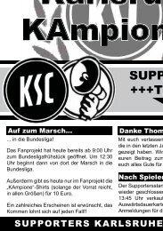 pour toujours - per sempre Karlsruhe - Hertha ... - Karlsruher SC