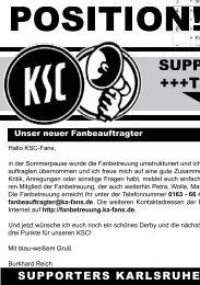 SUPPORTERS +++Ticker+++ - Karlsruher SC