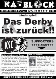 blockschrift 2 - Karlsruher SC