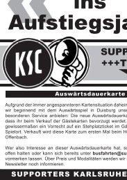 Mit Vollgas ins  Aufstiegsjahr!! - Karlsruher SC