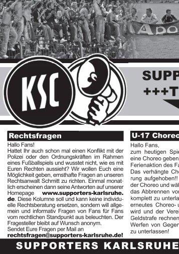 KARLSRUHE 2006 - EIN HERBSTMÄRCHEN - Karlsruher SC