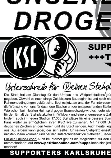 SUPPORTERS +++Ticker+++ - Karlsruher SC