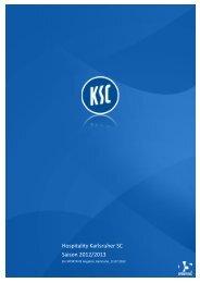 Hospitality Karlsruher SC Saison 2012/2013