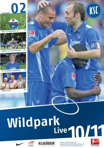 18.09.2010 Gast: SC Paderborn 07 14 06 11 x ... - Karlsruher SC