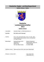 Hessische Landesmeisterschaften 2013 Zeitplan - KSC Heuchelheim