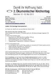 Liebe/r Kirchentags-Interessierte/r, - KSG Kiel