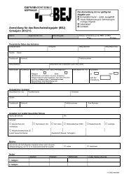 Anmeldung für das Berufseinstiegsjahr (BEJ) - Kaufmännische ...