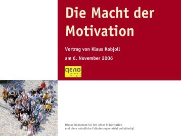 Die Macht der Motivation