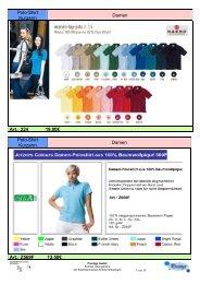 Polo-Shirt Kurzarm Damen Art.: 224 18,00€ Polo-Shirt Kurzarm ...