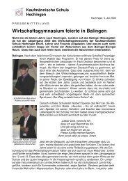 Wirtschaftsgymnasium feierte in Balingen - kaufmännische Schule ...