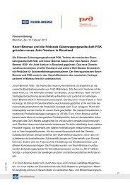Knorr-Bremse und die  Föderale Güterwagengesellschaft FGK ...