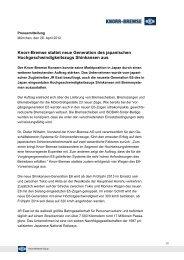 Knorr-Bremse stattet neue Generation des japanischen ...