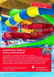 Galaktischer Spaß im Galaxy Schwarzwald! - Hohenzollerische ...