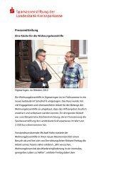 Pressemitteilung - Hohenzollerische Landesbank Kreissparkasse ...