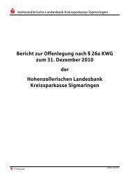 Offenlegungsbericht 2010 - Hohenzollerische Landesbank ...