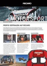 PROFIS VERTRAuEN AuF RECARO - KS Motorsport GmbH