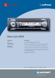 Monte Carlo MP26 Car Radio