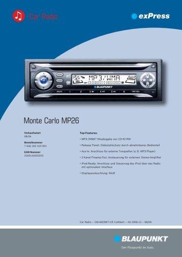 Monte Carlo MP26 Car Radio
