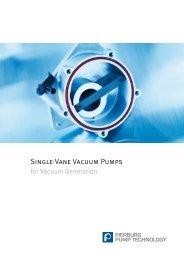 Single-Vane Vacuum Pumps for Vaccum Generation