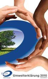 Umwelterklärung 2010 - EMAS