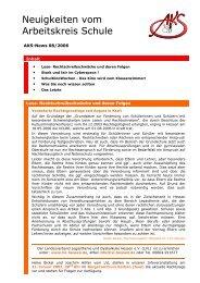 Neuigkeiten vom Arbeitskreis Schule - Newsletter 08/2006 (PDF