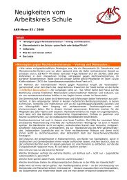 Neuigkeiten vom Arbeitskreis Schule - Newsletter 03/2008 (PDF