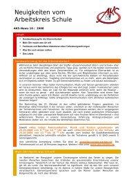 Neuigkeiten vom Arbeitskreis Schule - Newsletter 10/2008 (PDF
