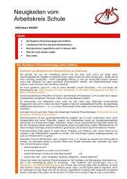 Neuigkeiten vom Arbeitskreis Schule - Newsletter 09/2007 (PDF
