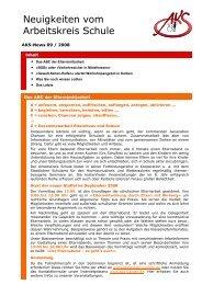 Neuigkeiten vom Arbeitskreis Schule - Newsletter 09/2008 (PDF