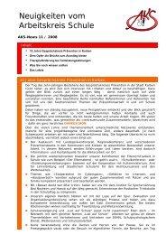 Neuigkeiten vom Arbeitskreis Schule - Newsletter 11/2008 (PDF