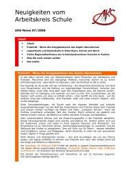 Neuigkeiten vom Arbeitskreis Schule - Newsletter 07/2006 (PDF