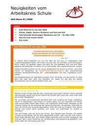 Neuigkeiten vom Arbeitskreis Schule - Newsletter 01/2006 (PDF