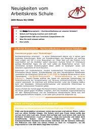 Neuigkeiten vom Arbeitskreis Schule - Newsletter 02/2006 (PDF