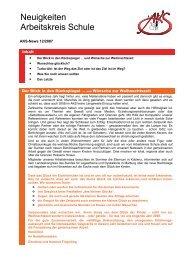 Neuigkeiten vom Arbeitskreis Schule - Newsletter 12/2007 (PDF