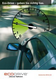 Eco-Drive – geben Sie richtig Gas. - Fahrschule R. Bucheli