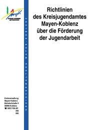 Richtlinien Kreis - Stadt Koblenz