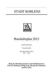 OB-Rede zur Einbringung des Haushaltes 2013 - Stadt Koblenz
