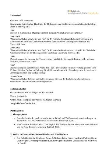 lebenslauf publikationen 20110228 katholische - Publikationen Im Lebenslauf