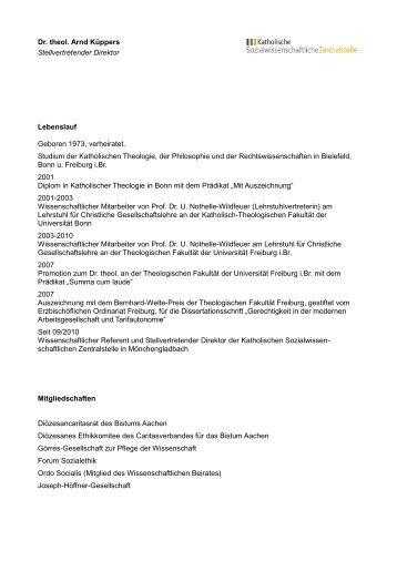 Ausführlicher Lebenslauf von Thomas Müller (PDF) - Katholische ...