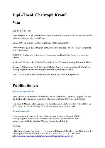 lebenslaufpublikationen pdf katholische - Alexander Der Groe Lebenslauf