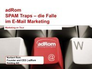 adRom Spam Verhinderung im E-Mail Marketing