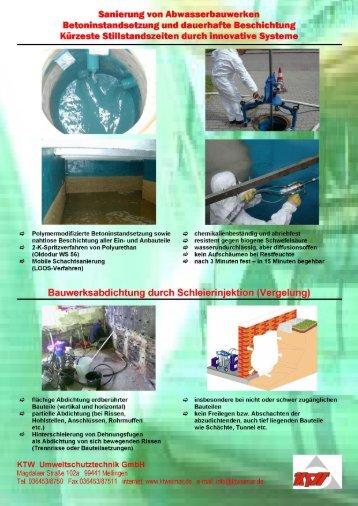 Infoblatt Abwasserbauwerke - KTWeimar