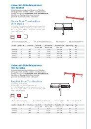 Universal-Spindelspanner mit Knebel Clevis Type ... - Kubis Austria