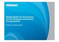Caspar Baumgart, WEMAG Schwerin - KUBUS Kommunalberatung ...