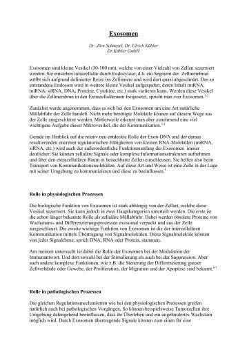 Exosomen - Dr. Kübler GmbH