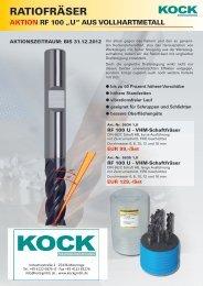 VHM-Ratiofräser (.pdf 1,5 MB) - Kock Werkzeugtechnik