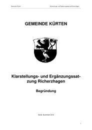 zung Richerzhagen Begründung - Gemeinde Kürten