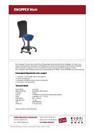 Datenblatt Swopper Work - KUGEL medical