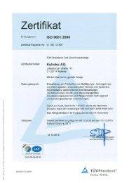 ISO 9001:2008 - Kuhnke