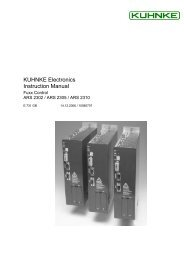 Fuxx Control ARS 2302 / ARS 2305 / ARS 2310 - Kuhnke